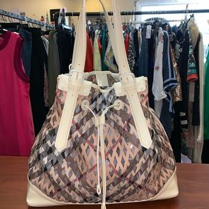 Burberry Large Claudia Drawstring Tote